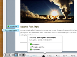Publishing Layout View: Enhanced layout view.